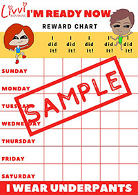 I'm Ready Now Toilet Training Rewards Chart