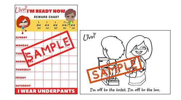 I'm Ready Now Rewards Chart & Colouring Sheets Bundle